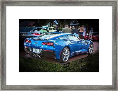 2014 Chevrolet Corvette C7      Framed Print by Rich Franco