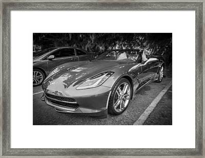 2014 Chevrolet Corvette C7 Painted Bw   Framed Print