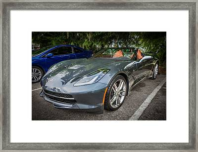 2014 Chevrolet Corvette C7 Painted Framed Print by Rich Franco