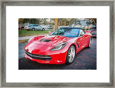 2014 Chevrolet Corvette Convertible C7 Painted    Framed Print by Rich Franco