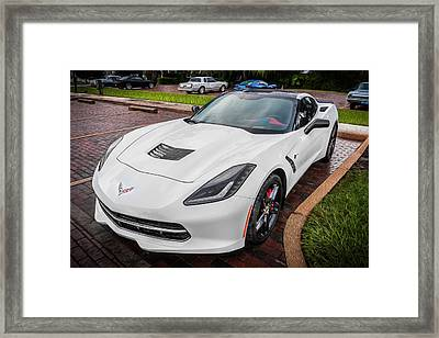 2014 Chevrolet Corvette Coupe C7 Painted  Framed Print
