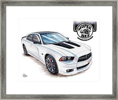 2014 Dodge Charger Super Bee Framed Print by Shannon Watts