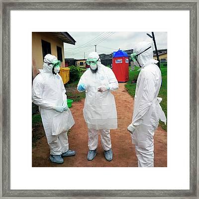 2014 Ebola Virus Disease Outbreak Framed Print