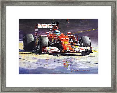 2014 Ferrari F14t Fernando Alonso  Framed Print by Yuriy Shevchuk