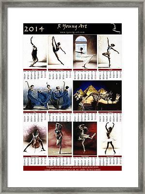 2014 Fine Art Calendar Framed Print by Richard Young