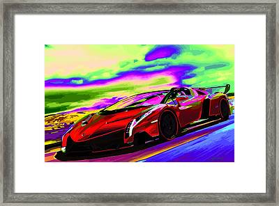 2014 Lamborghini Veneno Roadster Abstract Framed Print