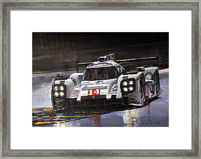 2014 Le Mans 24 Porsche 919 Hybrid  Framed Print
