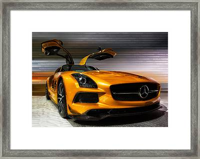 2014 Mercedes-benz Sls Amg Framed Print by Jerome Obille