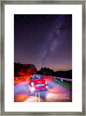 2014 Mini Cooper With The Milky Way Framed Print