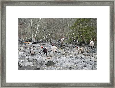 2014 Oso Mudslide Framed Print by Us Army National Guard