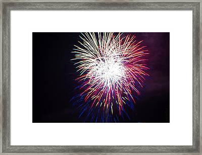 2014 Three Rivers Festival Fireworks Fairmont Wv 10 Framed Print