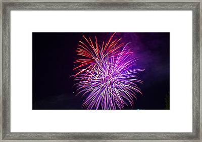 2014 Three Rivers Festival Fireworks Fairmont Wv 11 Framed Print