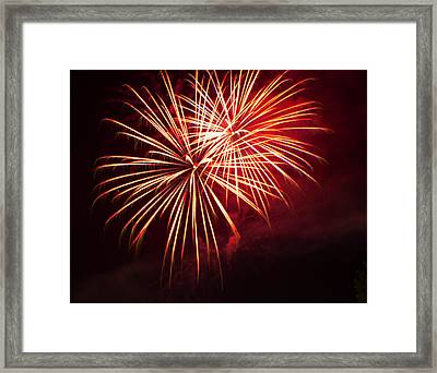 2014 Three Rivers Festival Fireworks Fairmont Wv 5 Framed Print by Howard Tenke