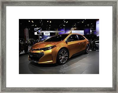 2014 Toyota Corolla Furia Concept Car Framed Print by E Osmanoglu