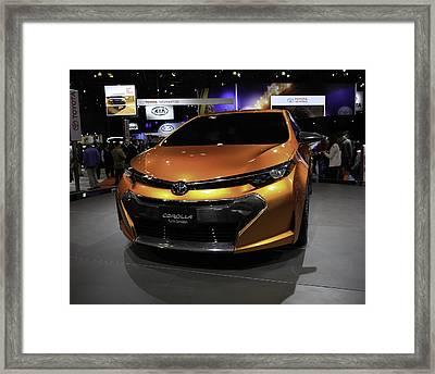 2014 Toyota Corolla Furia Concept Showcased At The Framed Print by E Osmanoglu