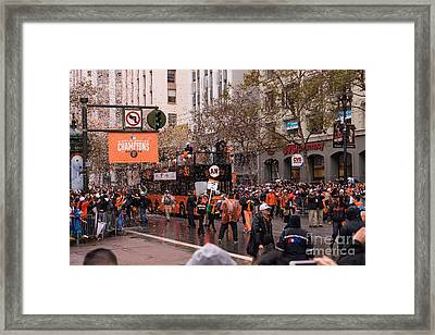 2014 World Series Champions San Francisco Giants Dynasty Parade Dsc1955 Framed Print by Wingsdomain Art and Photography