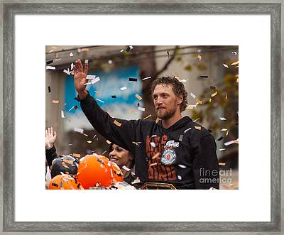 2014 World Series Champions San Francisco Giants Dynasty Parade Hunter Pence 5d29764 Framed Print by Wingsdomain Art and Photography