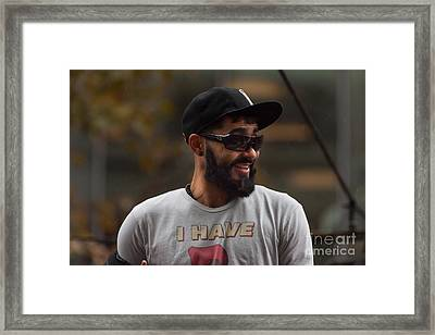 2014 World Series Champions San Francisco Giants Dynasty Parade Sergio Romo 5d29739 Framed Print by Wingsdomain Art and Photography