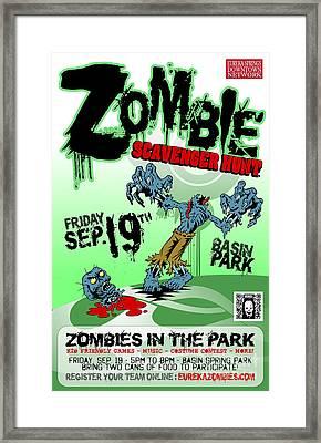 2014 Zombie Scavenger Hunt In Eureka Springs Ar Framed Print