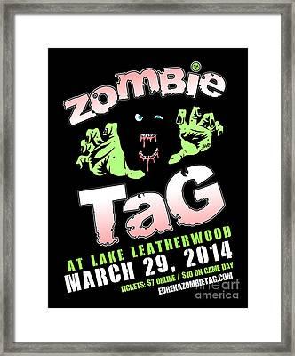 2014 Zombie Tag Eureka Springs Poster Framed Print