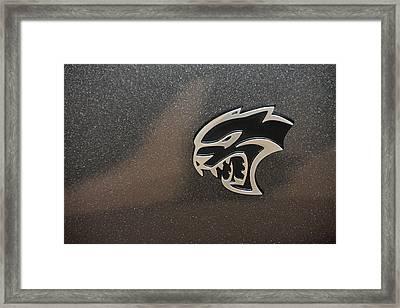 2015 Dodge Challenger Srt Hellcat Emblem Framed Print
