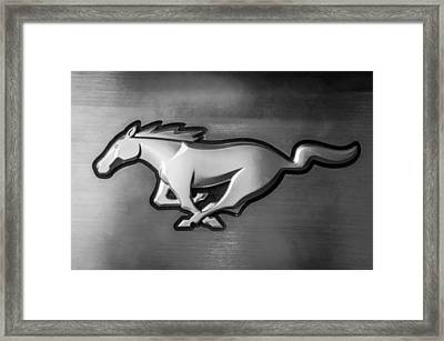 2015 Ford Mustang Prototype Emblem -0287bw Framed Print by Jill Reger