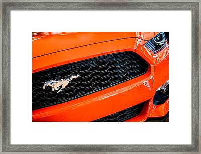 2015 Ford Mustang Prototype Grille Emblem -0092c Framed Print by Jill Reger