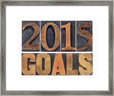 2015 Goals  Framed Print by Marek Uliasz