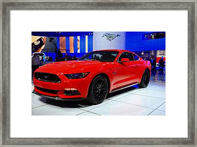 2015 Mustang In Red Framed Print by Rachel Cohen