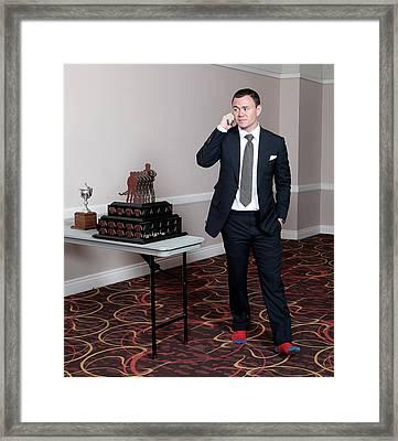 2015 Nhl Awards - Press Room Framed Print