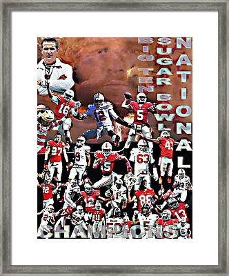 2015 Ohio State National Champions Framed Print by Gerard  Schneider Jr