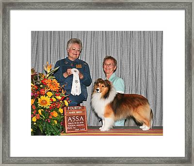 203 4th American Bred Dog Adohr Penelane's Patent Pending Framed Print by Chris Lynch