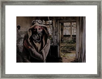 2050 Post Apocalyptic Scene Framed Print