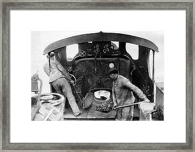 20th C Train And Driver Framed Print by Cci Archives