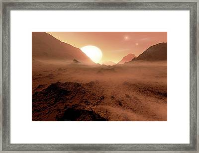 Alien Planet Framed Print by Detlev Van Ravenswaay