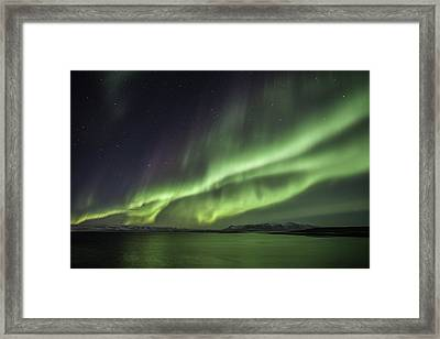 Framed Print featuring the photograph Aurora Borealis by Frodi Brinks
