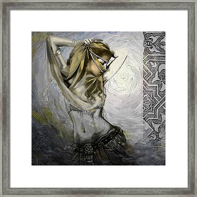 Abstract Belly Dancer 3a Framed Print