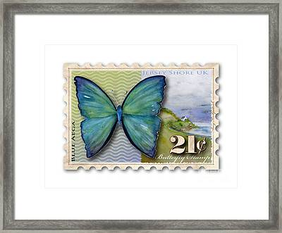 21 Cent Butterfly Stamp Framed Print by Amy Kirkpatrick