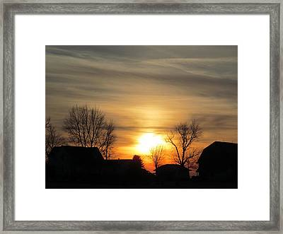 21 Dec 2012 Sunset Two Framed Print by Tina M Wenger