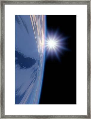 Earth-like Alien Planet Framed Print
