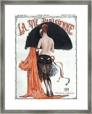 La Vie Parisienne  1920 1920s France Framed Print