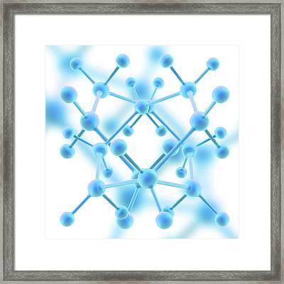 Molecule Framed Print by Alfred Pasieka