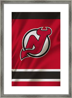 New Jersey Devils Framed Print by Joe Hamilton