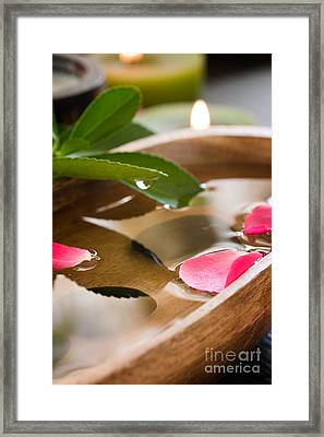 Spa Setting Framed Print by Mythja  Photography