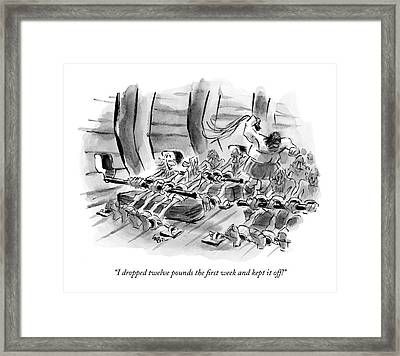I Dropped Twelve Pounds The First Week And Kept Framed Print by Lee Lorenz