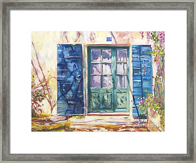 213 Rue De Provence Framed Print by David Lloyd Glover