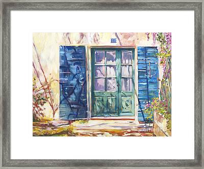 213 Rue De Provence Framed Print by David Lloyd Glover