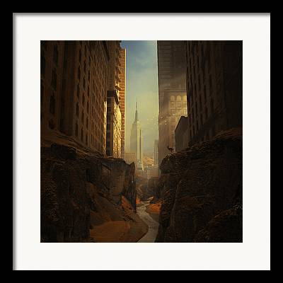 Abandoned Buildings Digital Art Framed Prints