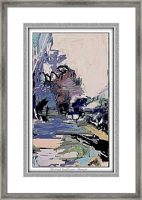 Framed Print featuring the painting Abstract Landscape by Pemaro