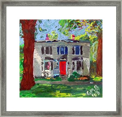 22 Atlantic Ave Framed Print by Greg Mason Burns